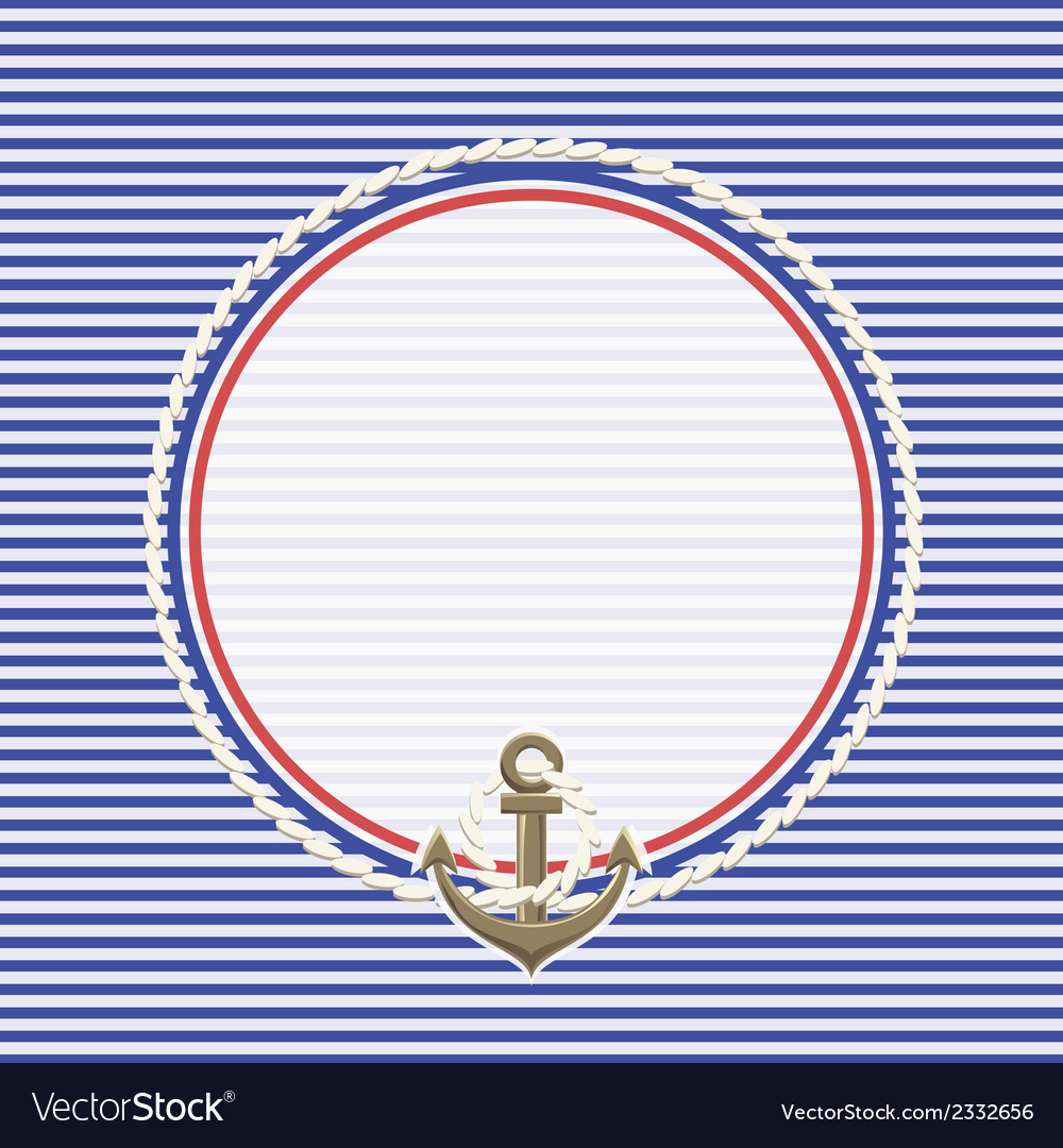 Sea background and anchor rope vector | Price: 1 Credit (USD $1)