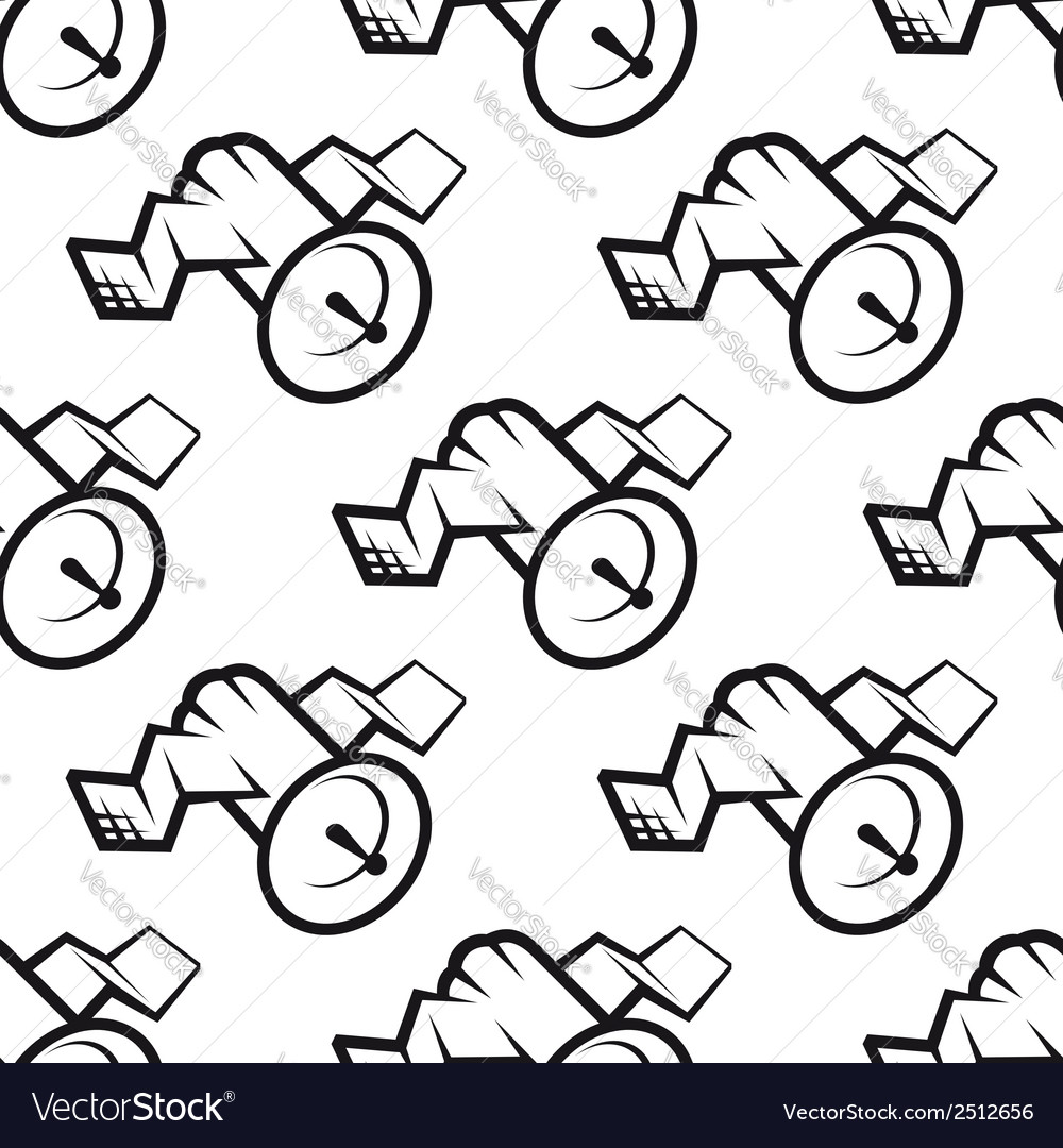 Seamless pattern of communications satellite icon vector | Price: 1 Credit (USD $1)
