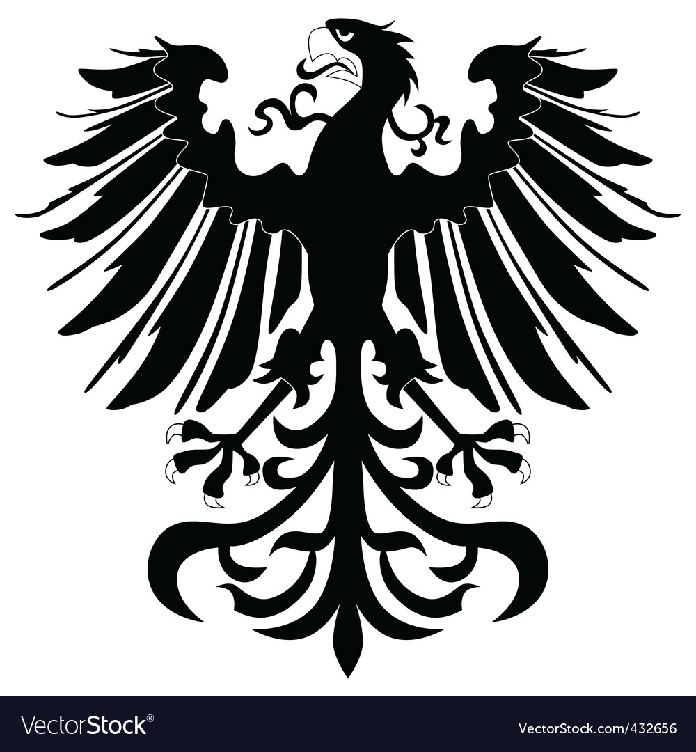 Silhouette of heraldic eagle vector | Price: 1 Credit (USD $1)
