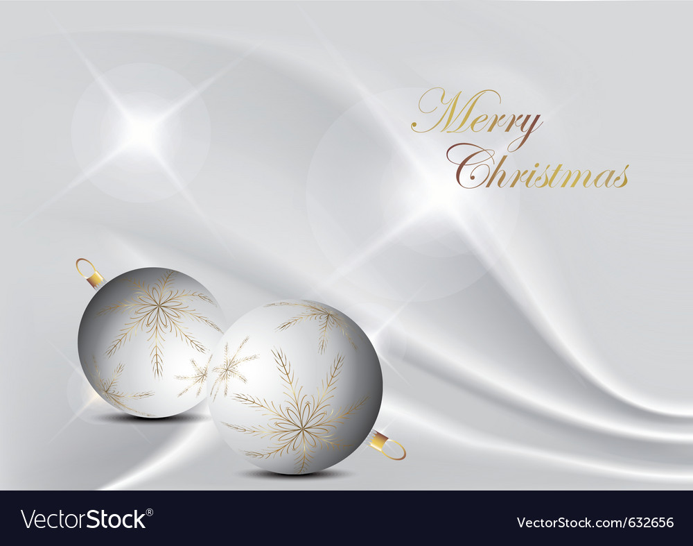 Silver elegant christmas background with christmas vector | Price: 1 Credit (USD $1)