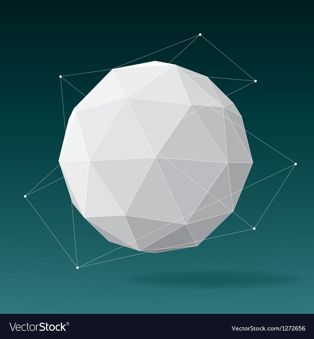 White globe geometrical background vector | Price: 1 Credit (USD $1)