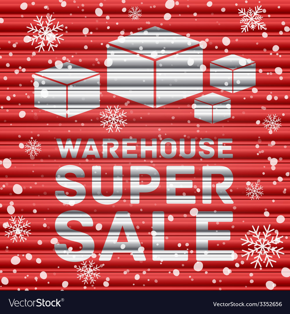 Winter warehouse super sale vector | Price: 1 Credit (USD $1)