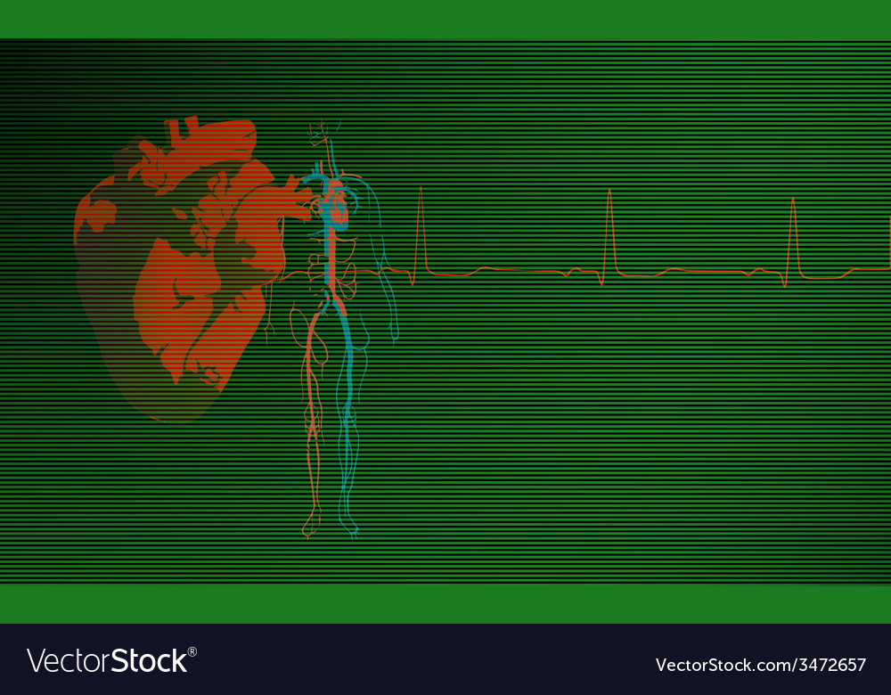 Cardiology background green vector | Price: 1 Credit (USD $1)