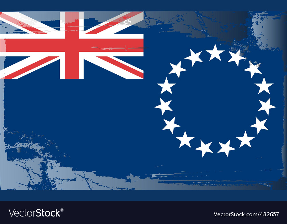 Cook islands national flag vector   Price: 1 Credit (USD $1)