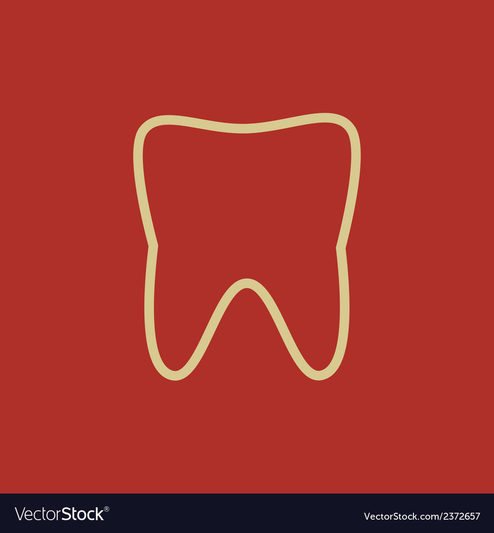 Dental flat icon vector   Price: 1 Credit (USD $1)
