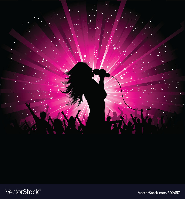 Female singer vector   Price: 1 Credit (USD $1)