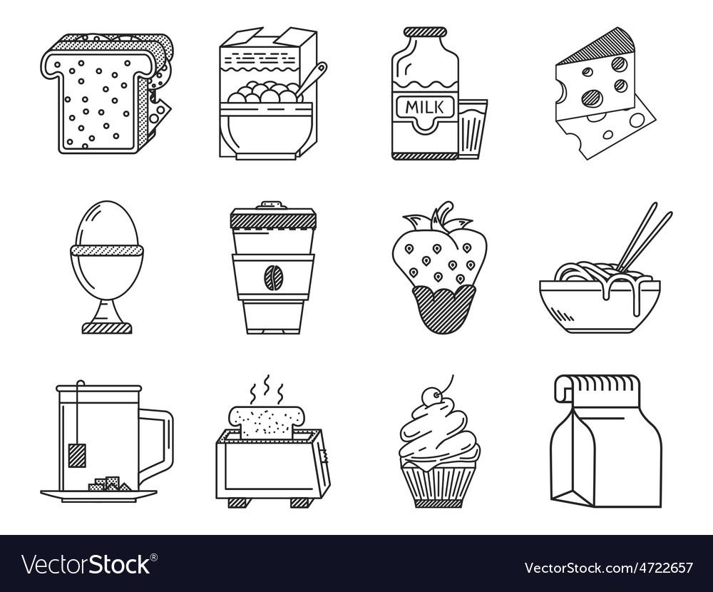 Healthy nutrition black line icon vector | Price: 1 Credit (USD $1)