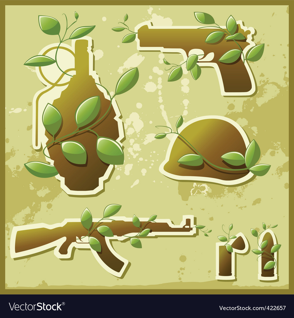 Nature against war vector | Price: 3 Credit (USD $3)