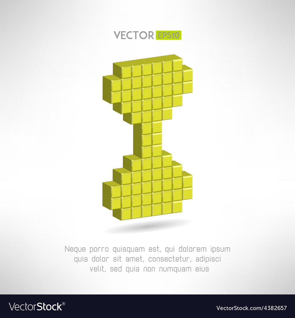 Sand glass icon in special pixel flat design old vector