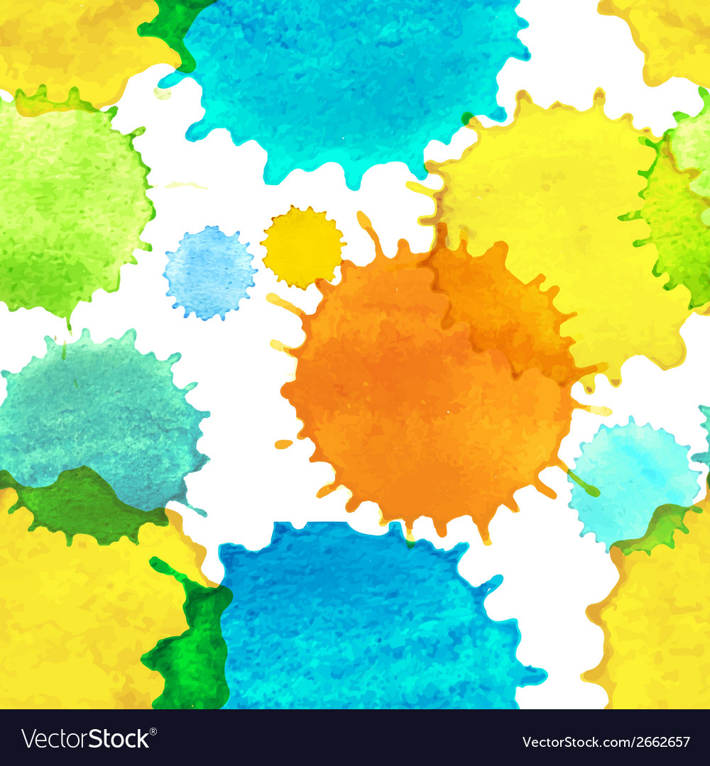Seamless pattern with colorful watercolor paint vector | Price: 1 Credit (USD $1)