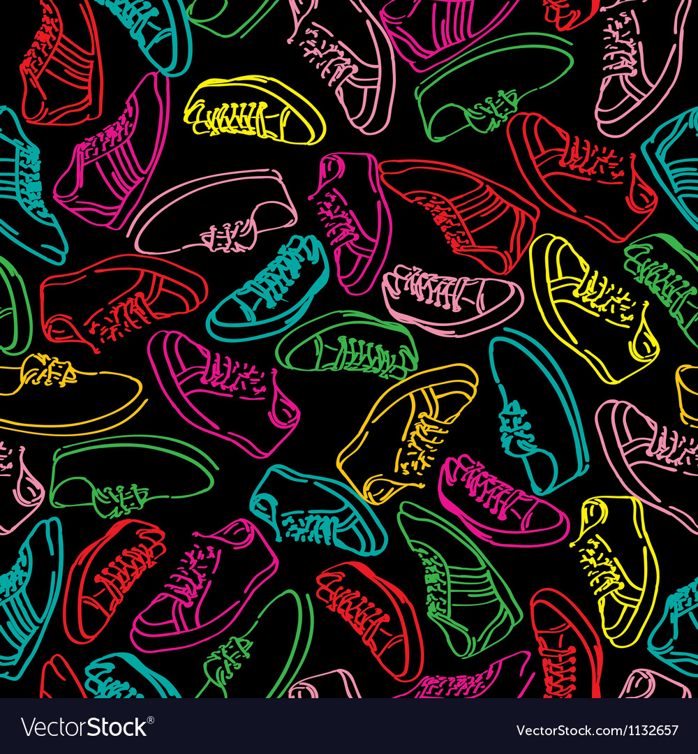 Stylish snikers pattern vector | Price: 1 Credit (USD $1)