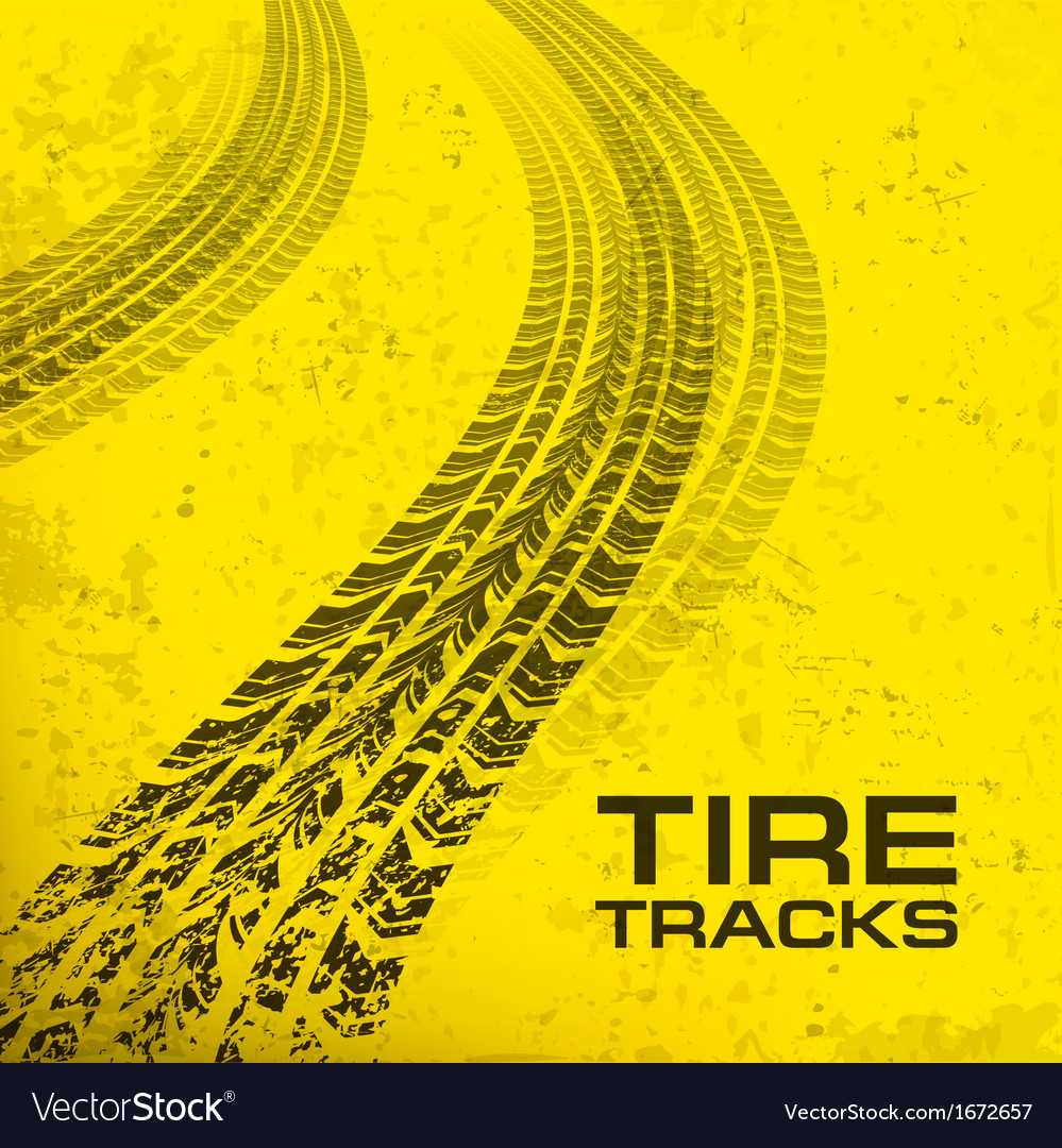 Tire tracks on yellow vector | Price: 1 Credit (USD $1)