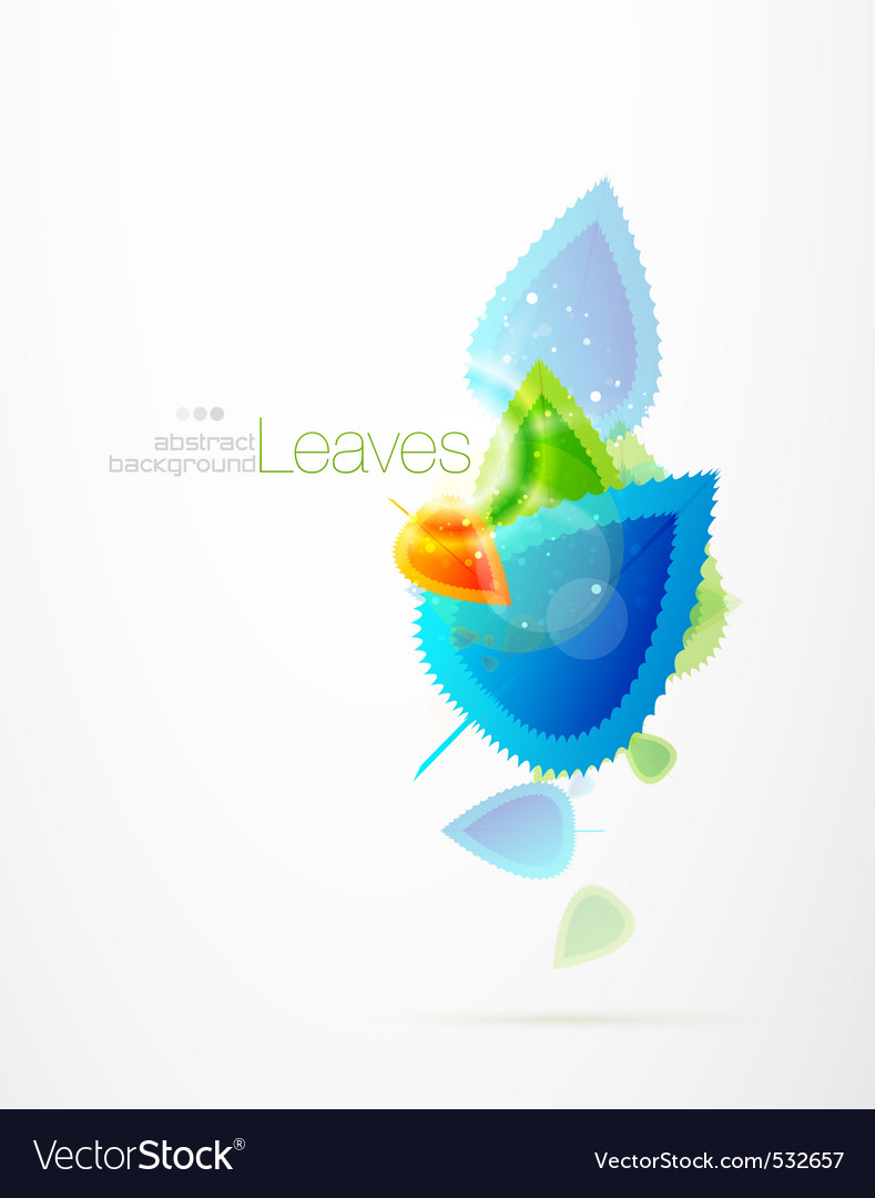 Winter leaves vector | Price: 1 Credit (USD $1)