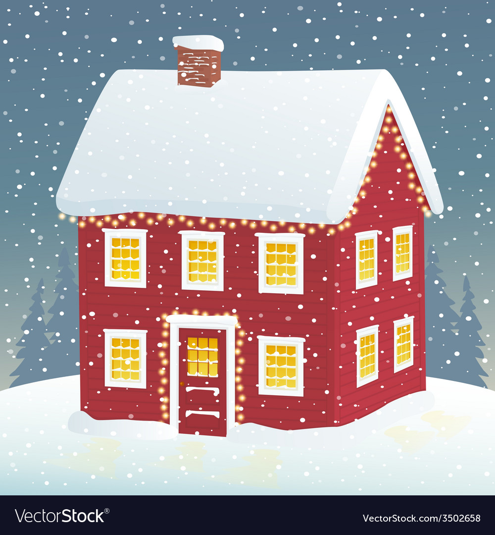 Christmas cozy home vector | Price: 1 Credit (USD $1)