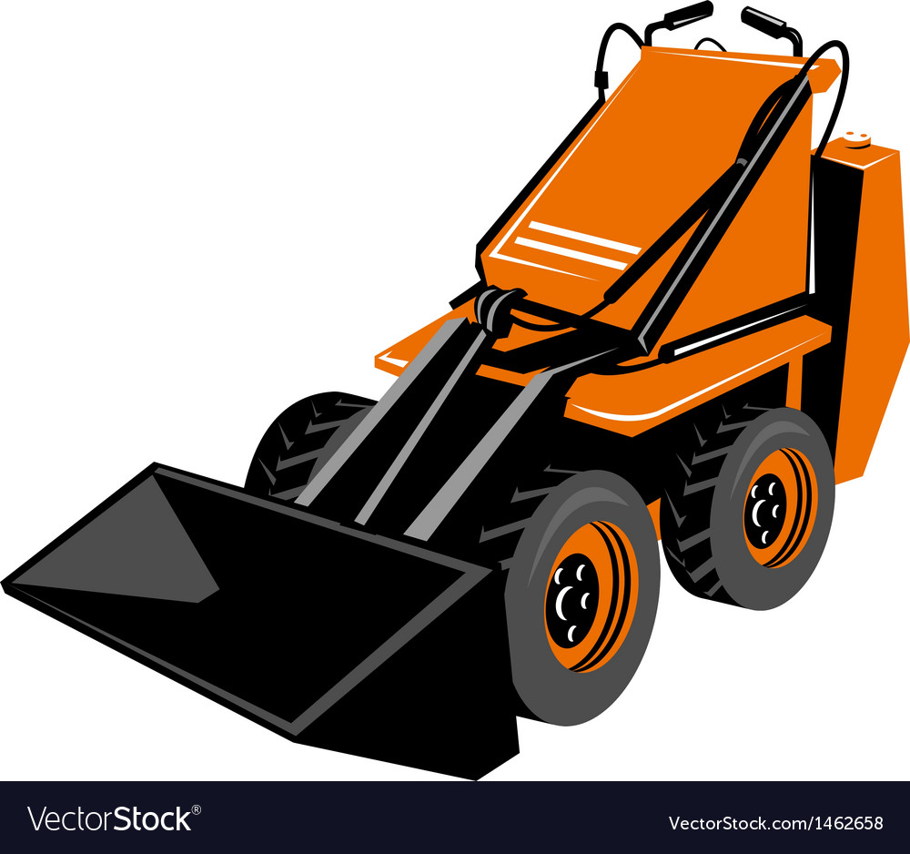 Compact skid steer vector | Price: 1 Credit (USD $1)