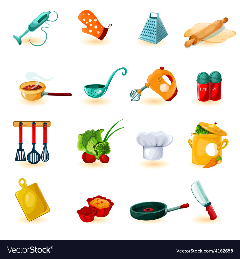 Cooking icons set vector | Price: 3 Credit (USD $3)