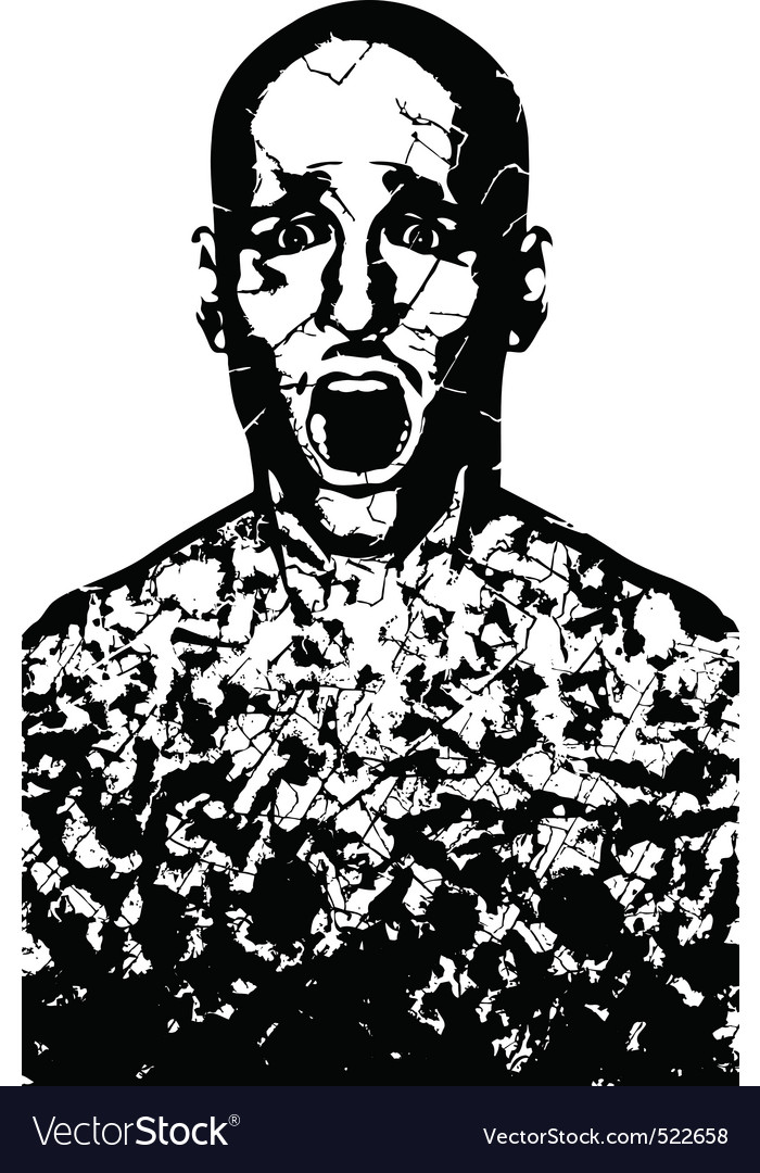 Corroded man vector | Price: 1 Credit (USD $1)