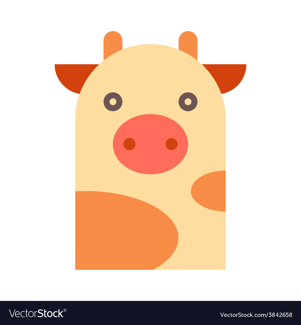 Cow illutration vector | Price: 1 Credit (USD $1)