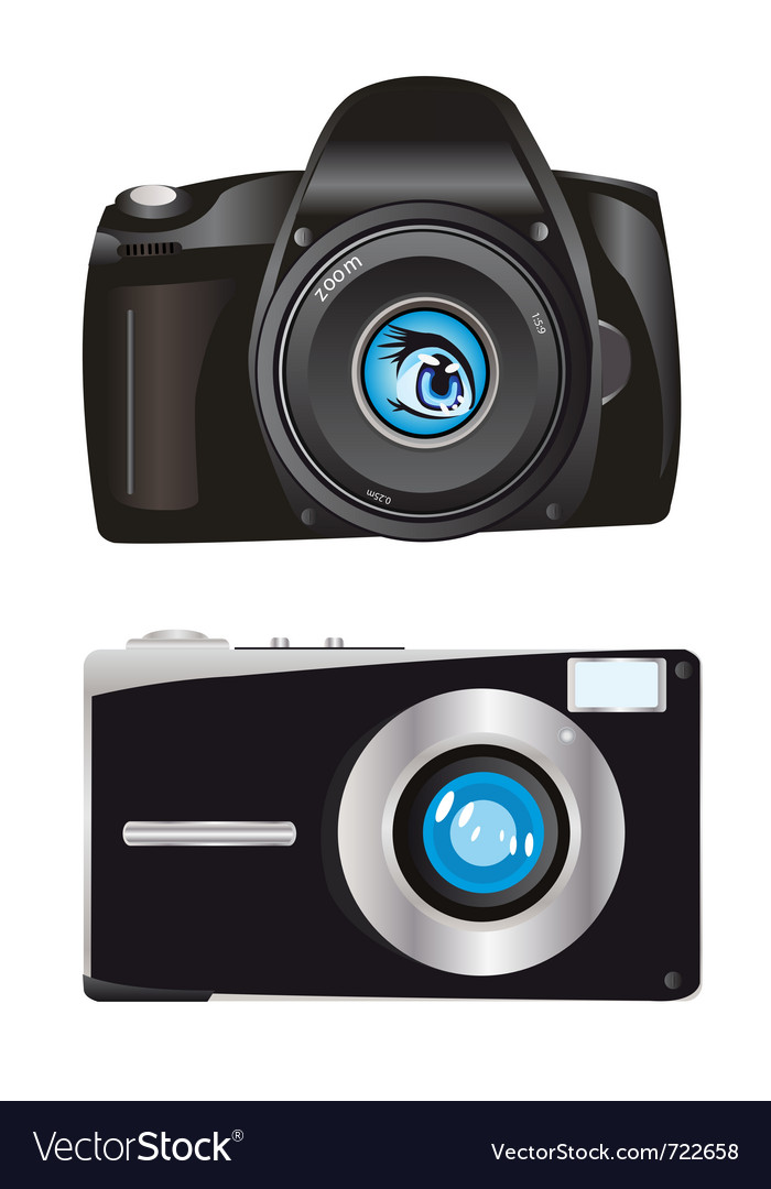 Digital cameras vector | Price: 1 Credit (USD $1)