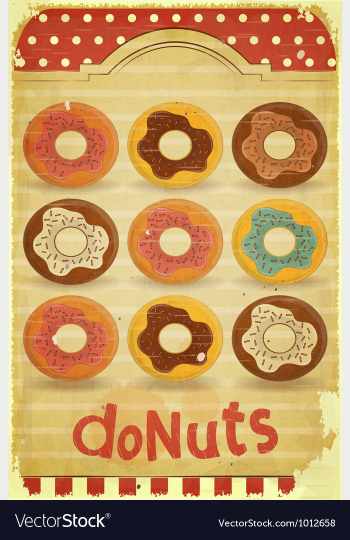 Donuts vector | Price: 1 Credit (USD $1)