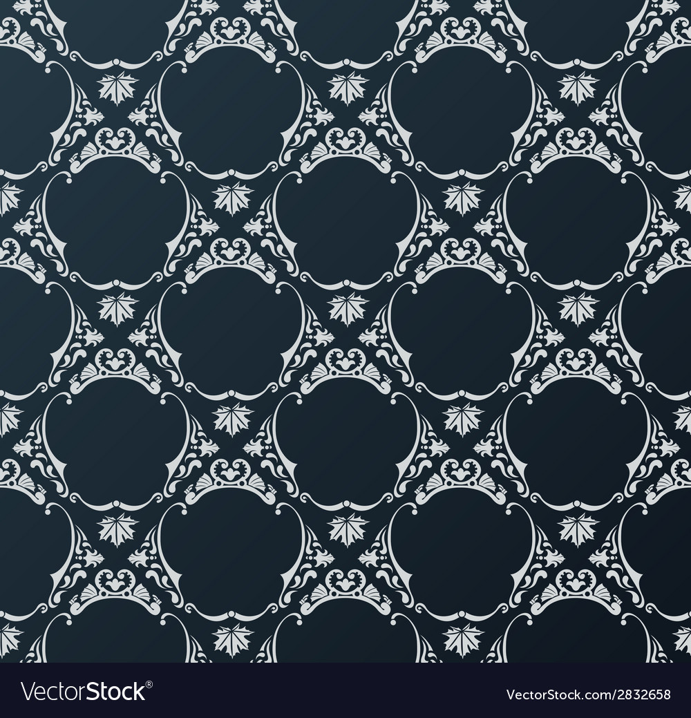 Seamless wallpaper background vintage black vector | Price: 1 Credit (USD $1)
