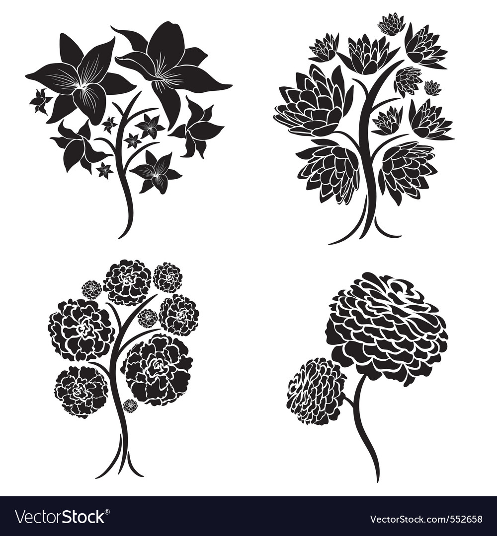Spring tree design elements vector | Price: 1 Credit (USD $1)
