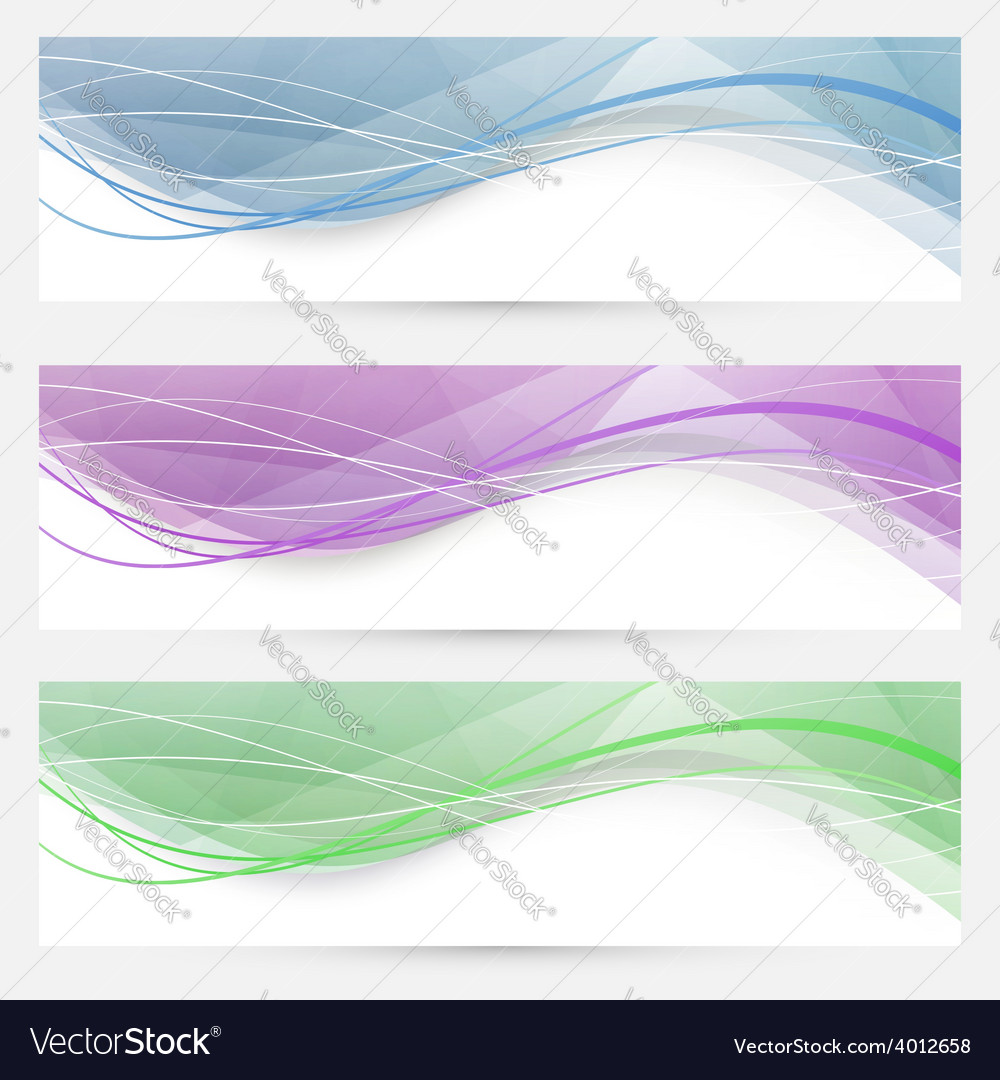 Swoosh speed wave crystal header collection vector | Price: 1 Credit (USD $1)