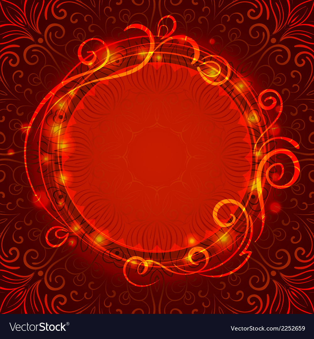 Abstract red mystic lace background with swirl vector | Price: 1 Credit (USD $1)