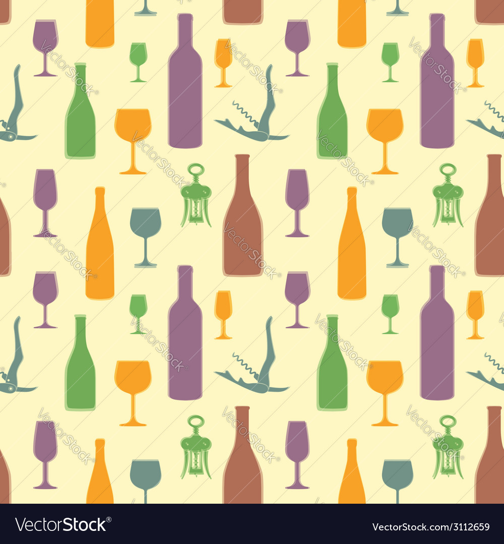 Abstract wine seamless pattern vector | Price: 1 Credit (USD $1)