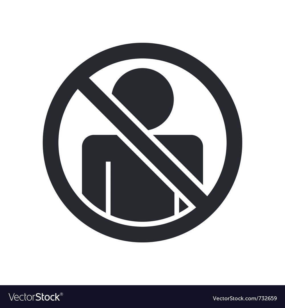 Access forbidden icon vector | Price: 1 Credit (USD $1)