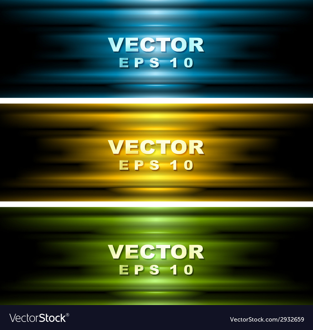 Bright glowing banners vector | Price: 1 Credit (USD $1)