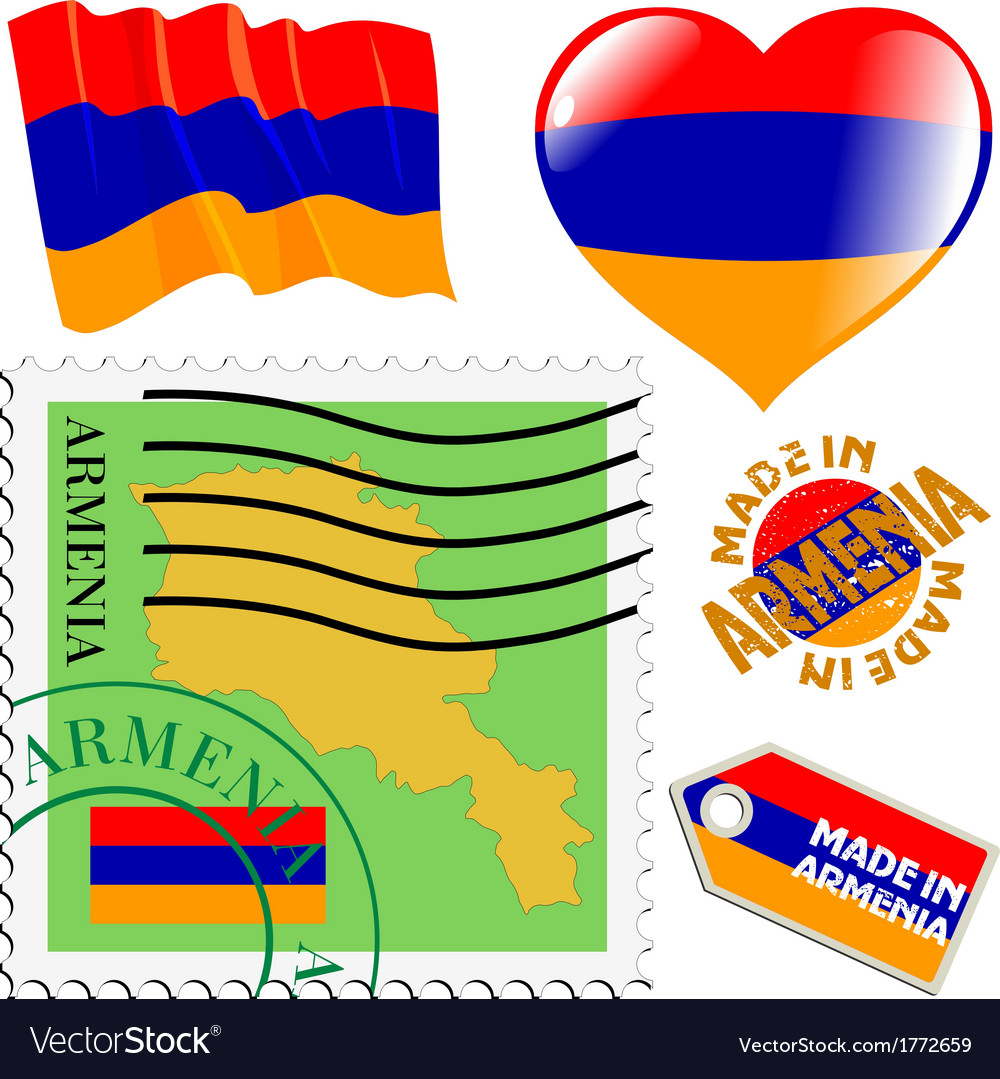 Colours of armenia vector | Price: 1 Credit (USD $1)