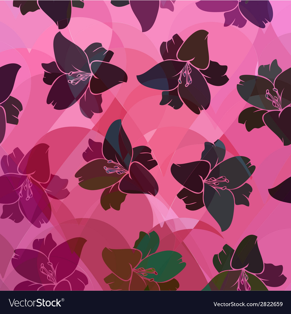 Floral pattern seamless retro vector | Price: 1 Credit (USD $1)