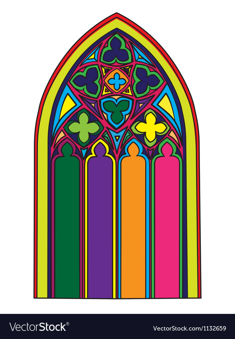 Gothic window vector | Price: 1 Credit (USD $1)