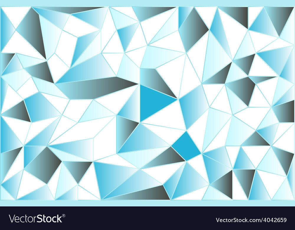 Icy low poly polygonal triangular icy abstract vector | Price: 1 Credit (USD $1)