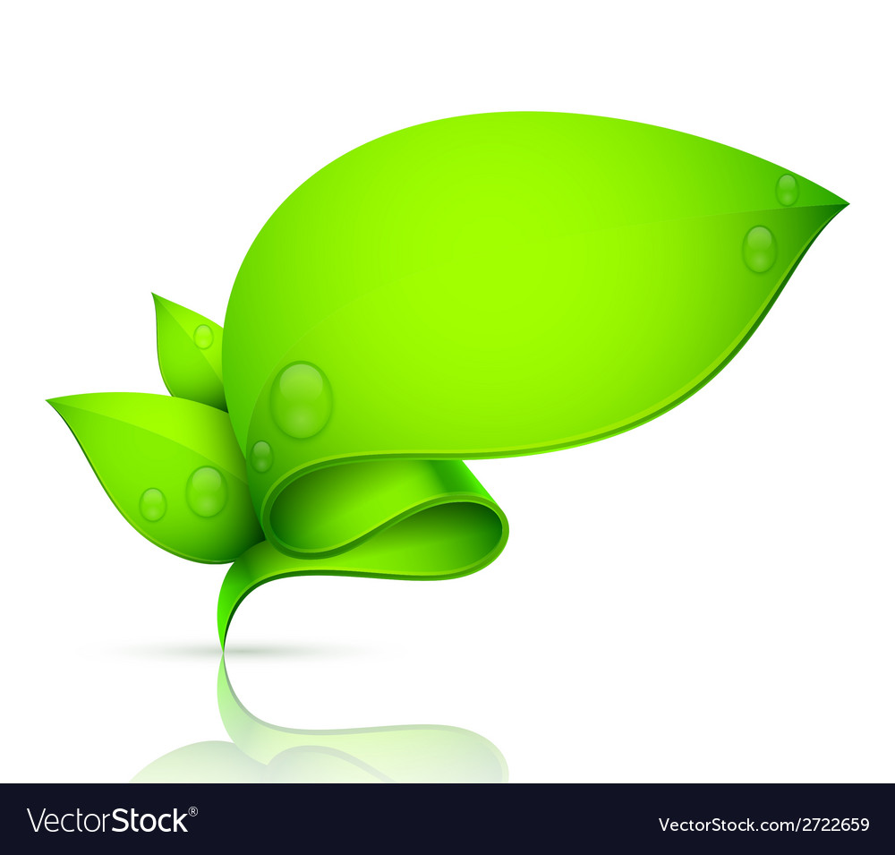 Leaf banner vector | Price: 1 Credit (USD $1)