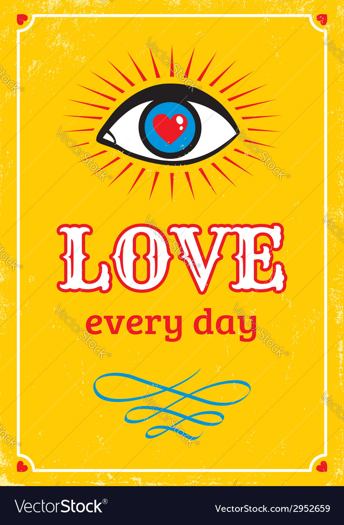 Love every day yellow vector | Price: 1 Credit (USD $1)