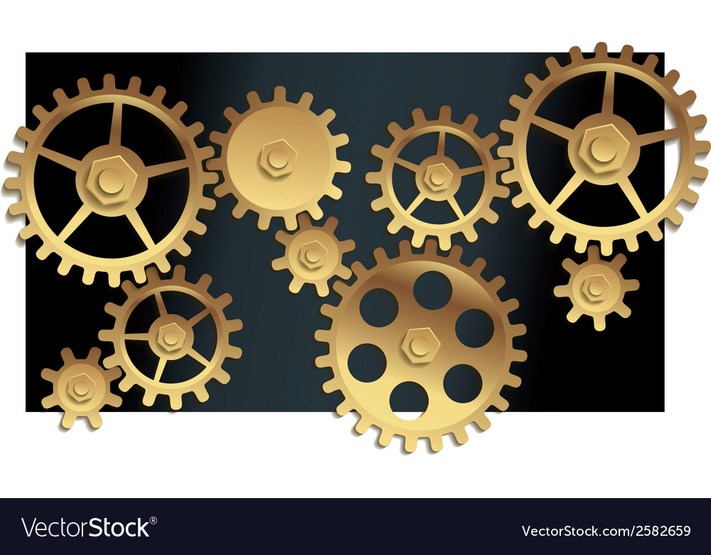 Machine gears vector | Price: 1 Credit (USD $1)