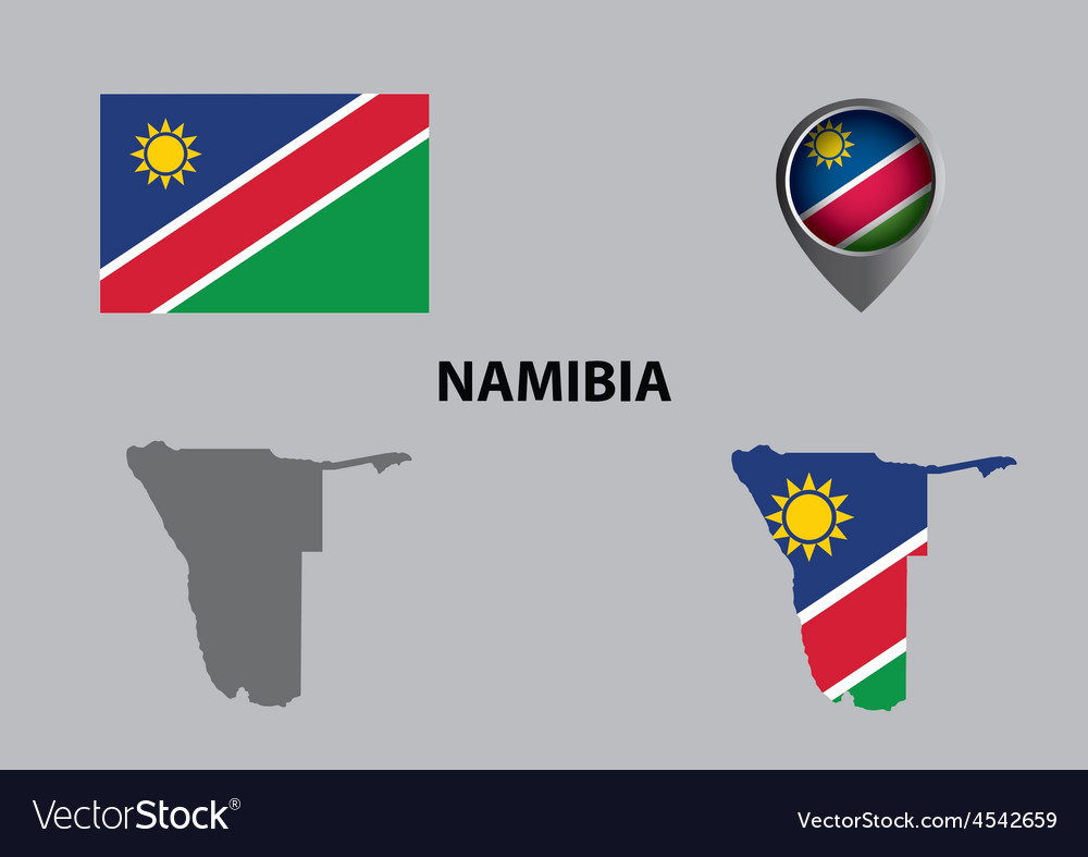 Map of namibia and symbol vector   Price: 1 Credit (USD $1)