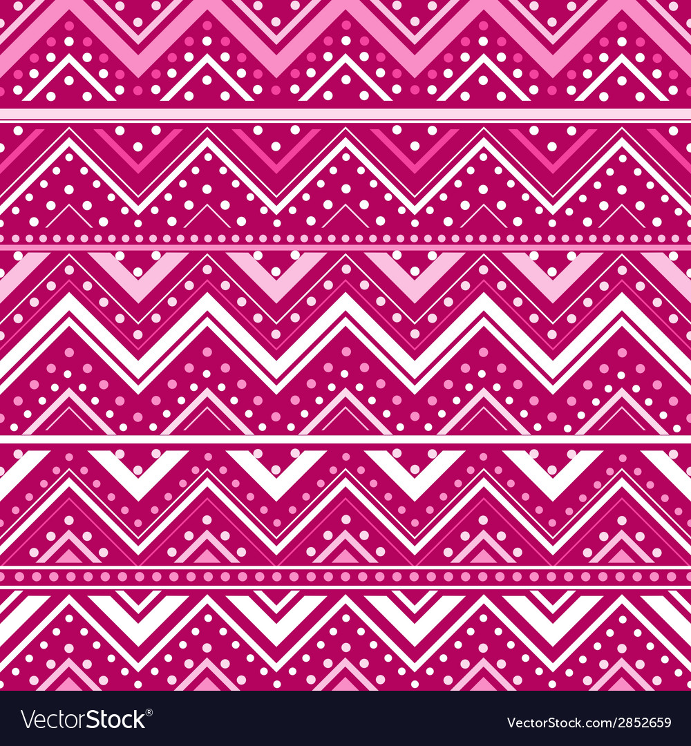 Pink background with zig zag lines and dots vector | Price: 1 Credit (USD $1)
