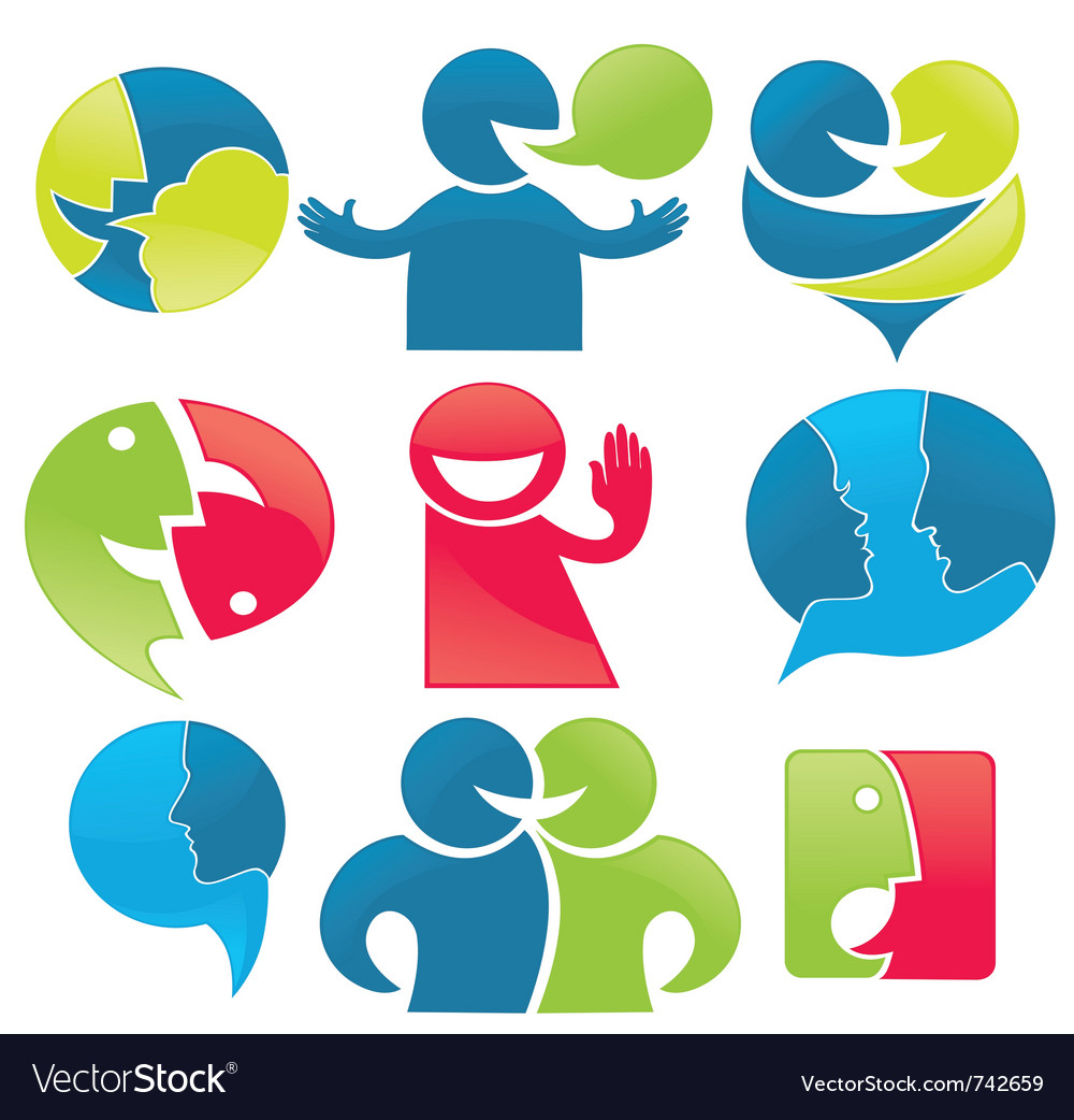 Talk and communication vector | Price: 1 Credit (USD $1)