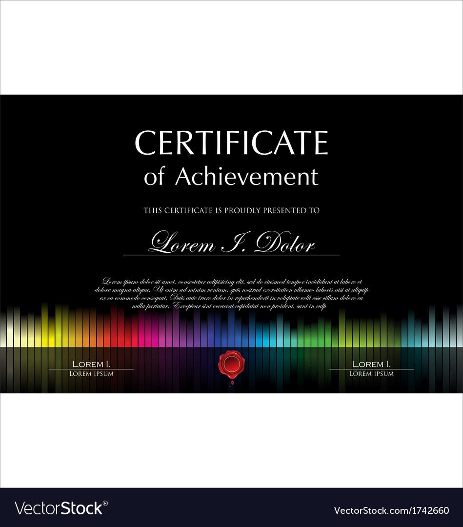 Black colorful certificate template vector | Price: 1 Credit (USD $1)