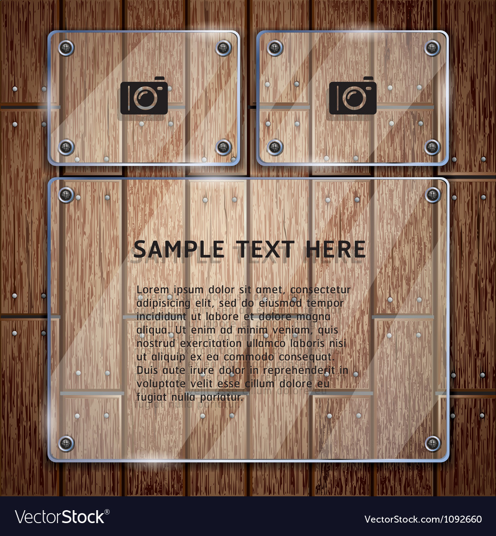 Glass frame and wooden vector | Price: 1 Credit (USD $1)
