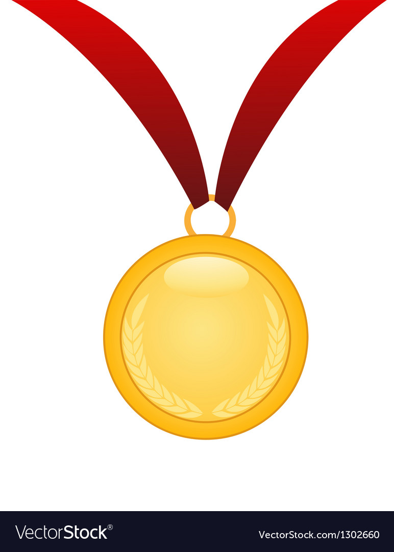 Gold medal vector | Price: 1 Credit (USD $1)