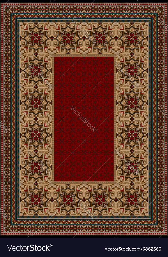 Luxury carpet with burgundy pattern vector | Price: 1 Credit (USD $1)