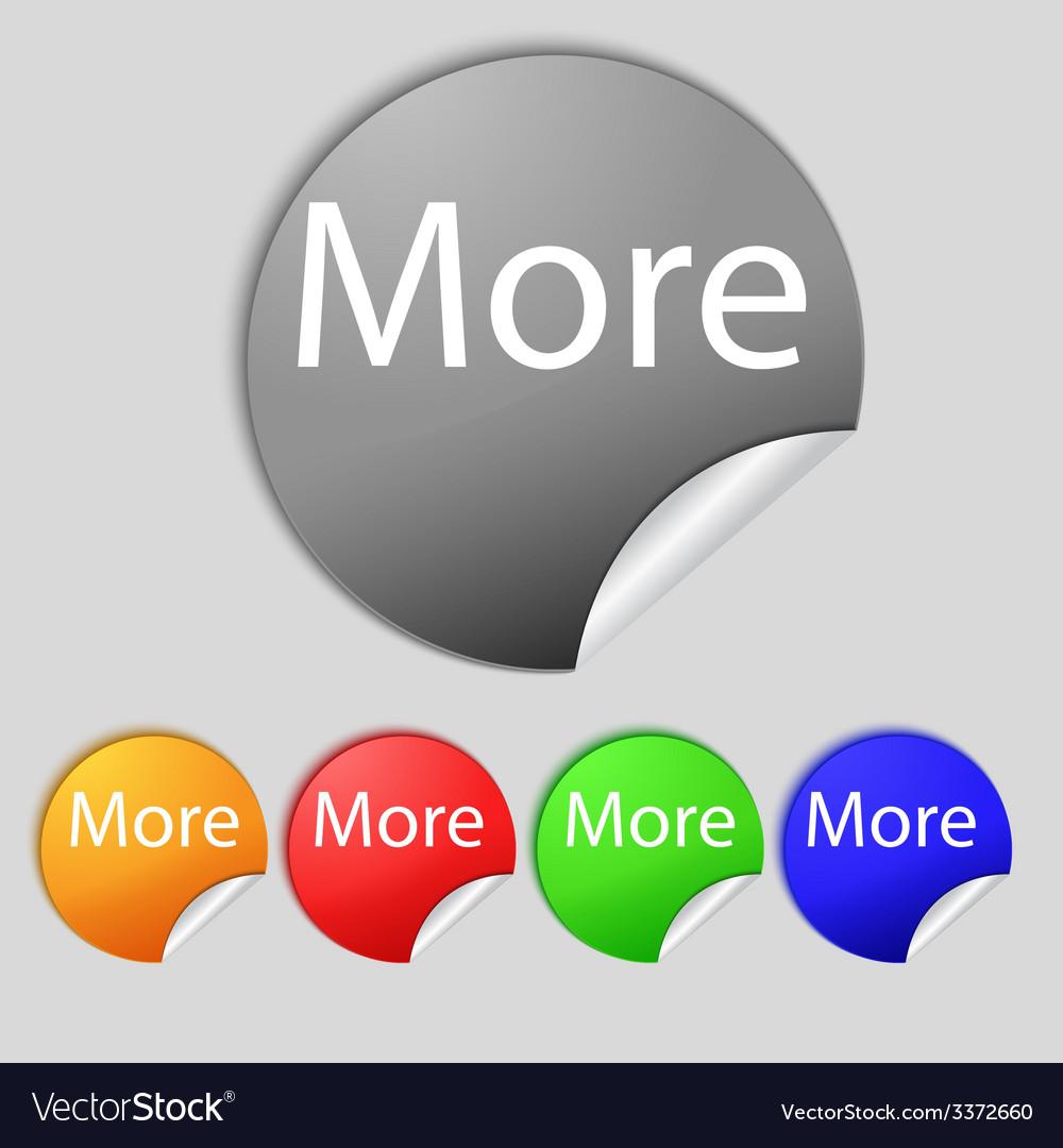 More sign icon details symbol website navigation vector | Price: 1 Credit (USD $1)