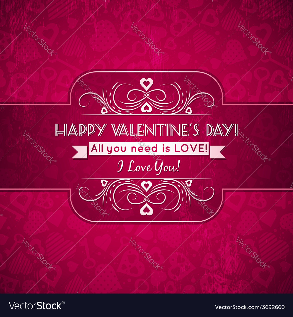 Red valentines day greeting card with hearts vector | Price: 1 Credit (USD $1)