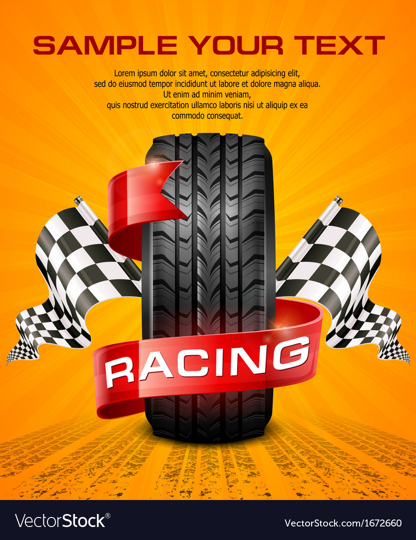 Rubber tire  racing symbols vector | Price: 1 Credit (USD $1)