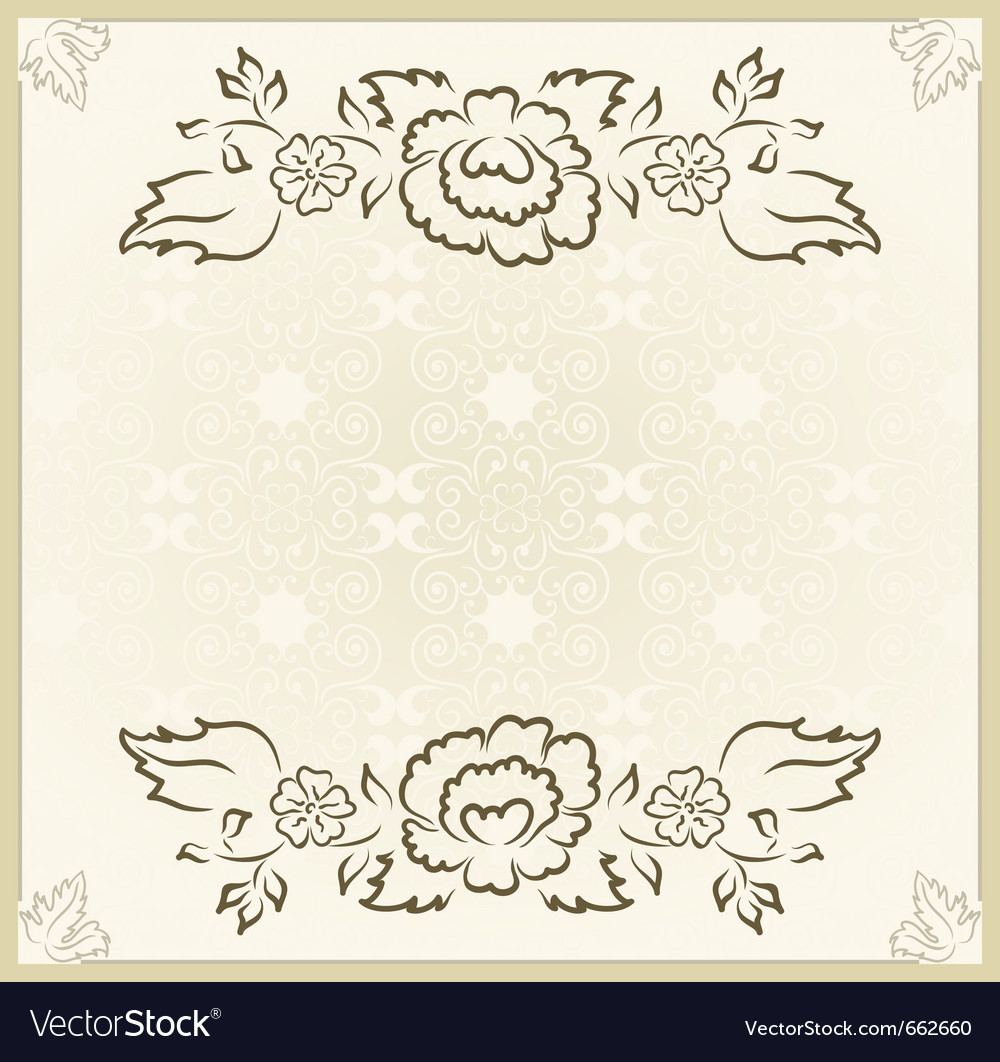 Vintage design for wedding card - vector | Price: 1 Credit (USD $1)