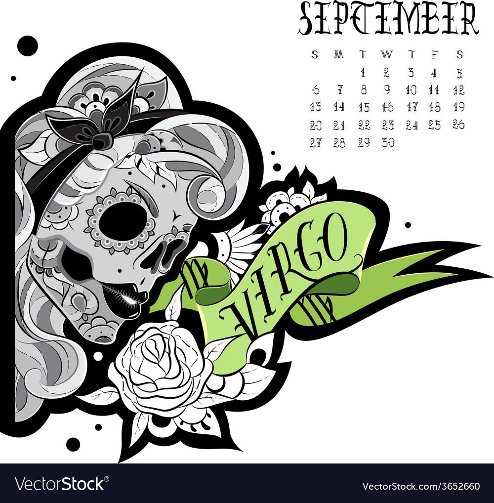 Virgo tattoo vector | Price: 1 Credit (USD $1)